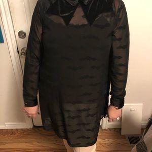Sheer 🦇 mid-dress